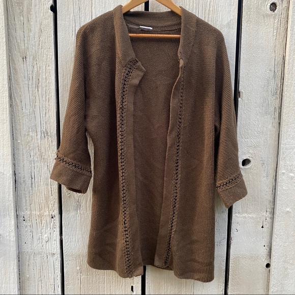 Phase 3 Brown Open Cardigan One Size